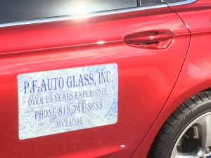 PF auto Glass signage