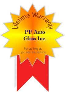 image of PF Auto Glass inc. lifetime warranty