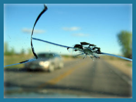 cracked windshield needing a windshield repair